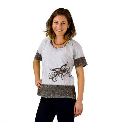 Damen T-Shirt Sudha Kelabu