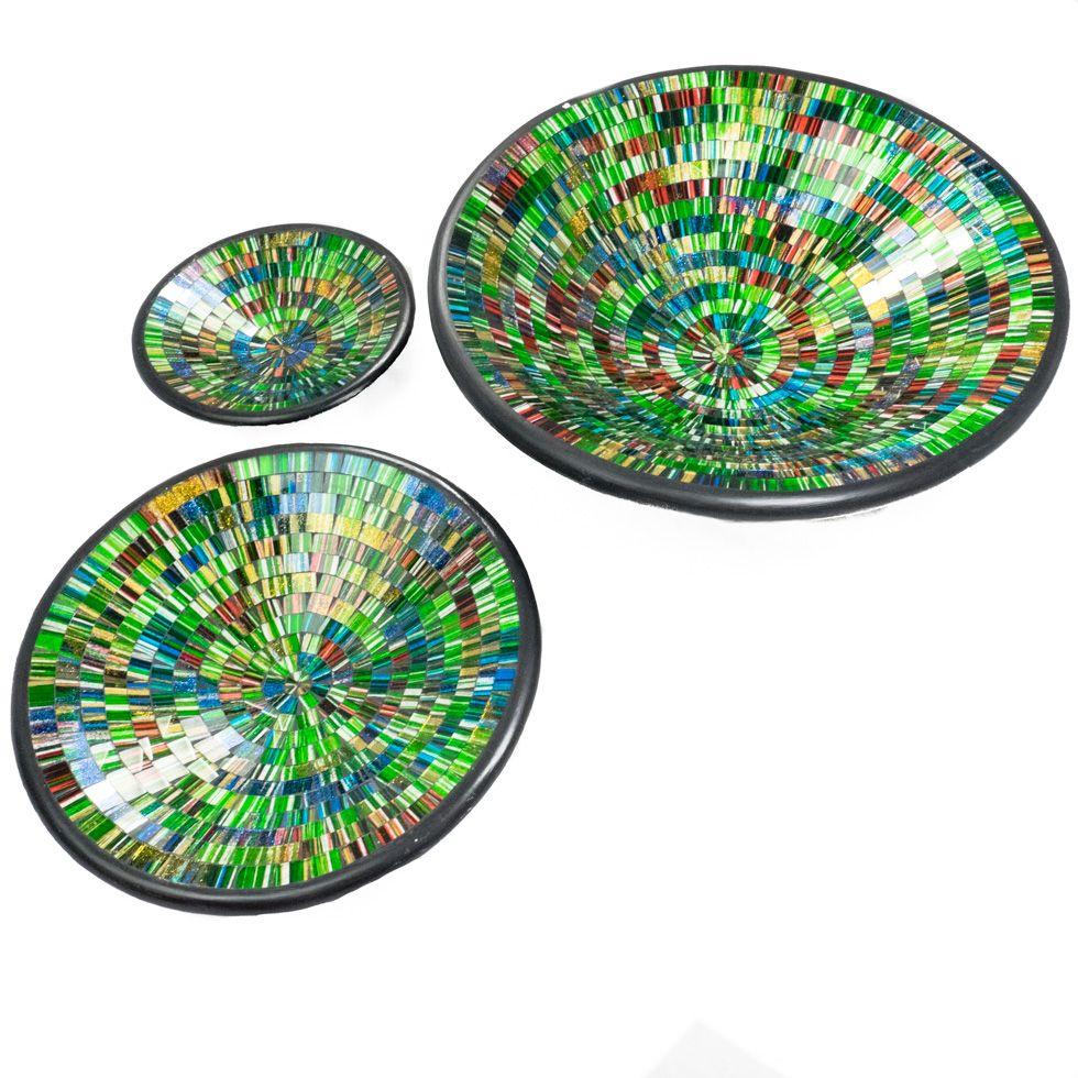Dekorative Schale Berkilau Grün, rund