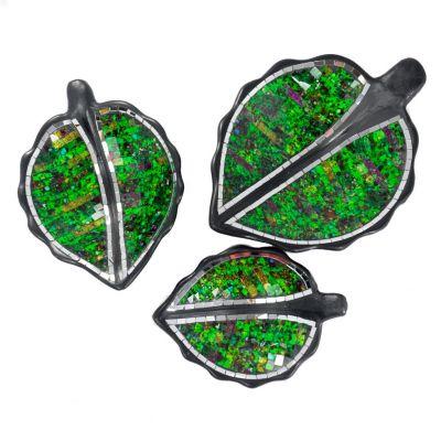 Schale Berkilau Green Leaf