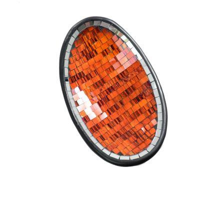 Decorative Schale Berkilau Orange, oval