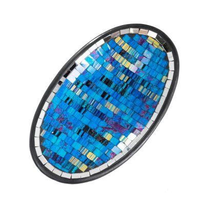 Decorative Schale Berkilau Turquoise, oval