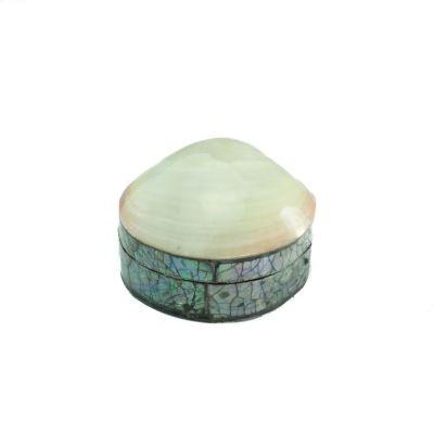 Muschel-Schmuckschatulle – klein, weiß