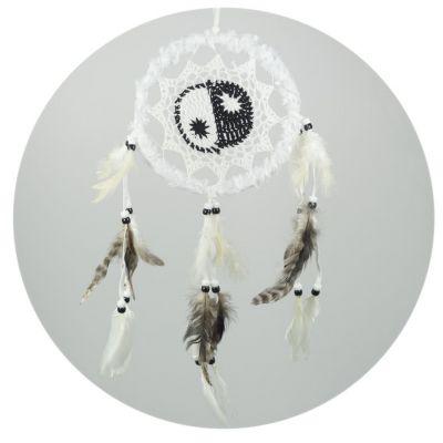 Traumfänger Yin&Yang Weiß