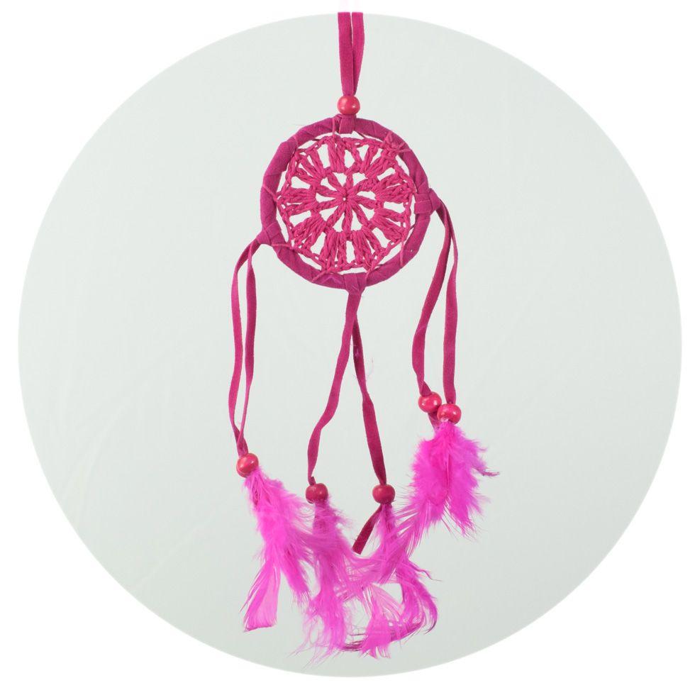 Kleiner Traumfänger - rosa, gehäkelt