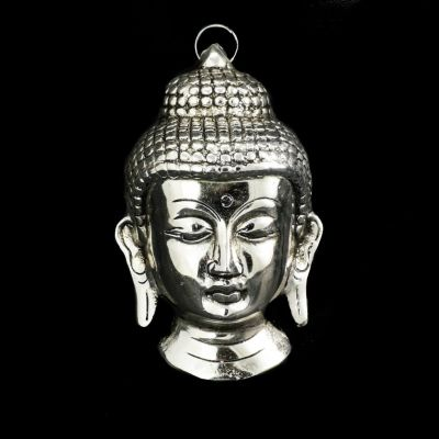 Metall-Wandskulptur Buddha