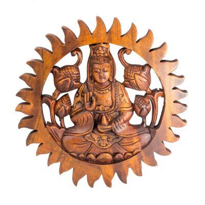 Wandskulptur Buddha Abhaya