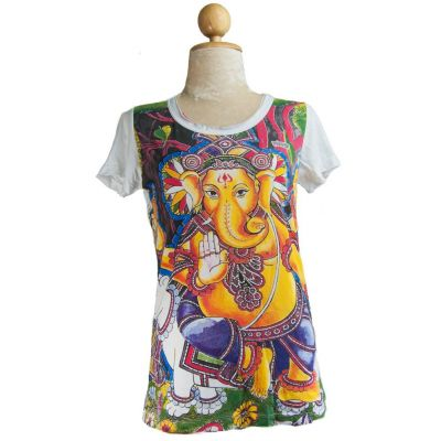 Damen T-Shirt Ganapati White
