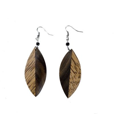 Ohrringe Wooden leaves 2