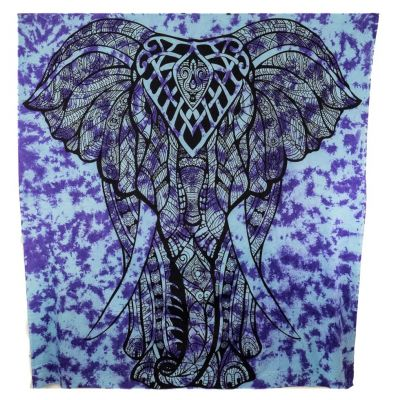 Überdecke Großer Elefant – lila