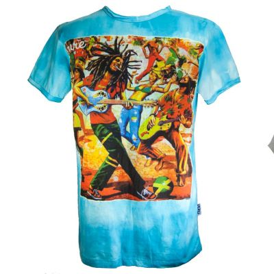 T-shirt Bob Marley Turquoise