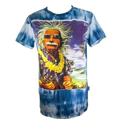 T-shirt Einstein on Holiday Blue