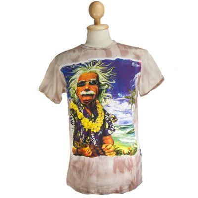 T-shirt Einstein on Holiday Brown