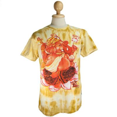 T-shirt Ganesh on Lotus Yellow