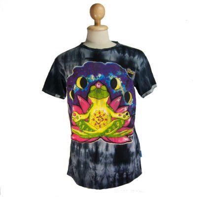 T-shirt Meditating Frog Black