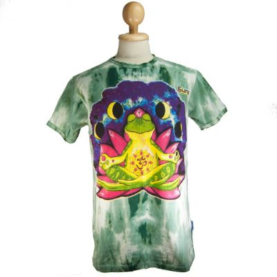 T-shirt Meditating Frog Green