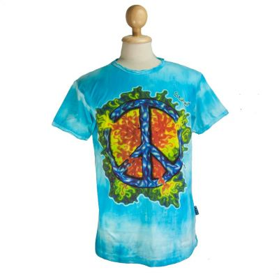 T-shirt Peace Turquoise