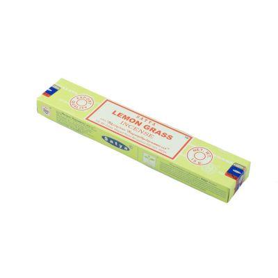 Räucherstäbchen Satya Lemon Grass | Packung 15 g, Schachtel mit 12 Packungen zum Preis von 10