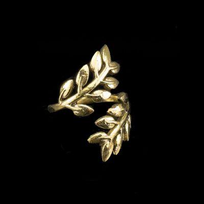 Ring Laurel Brass
