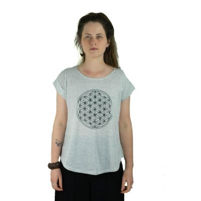 T-shirt Darika Flower of Life Greenish