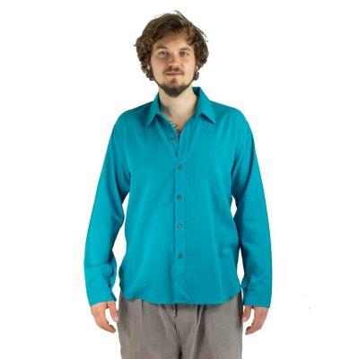 Hemd Tombol Turquoise