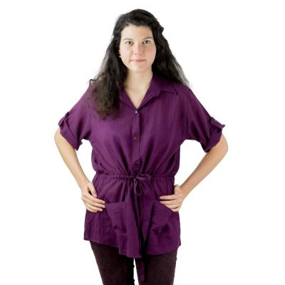 Damenhemd Sumalee Purple | UNI