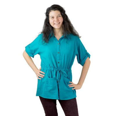 Damenhemd Sumalee Turquoise