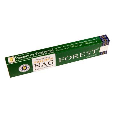 Räucherstäbchen Golden Nag Forest | Packung 15 g, Schachtel mit 12 Packungen zum Preis von 10