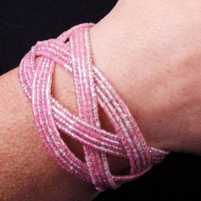 Perlenarmband Merah Muda