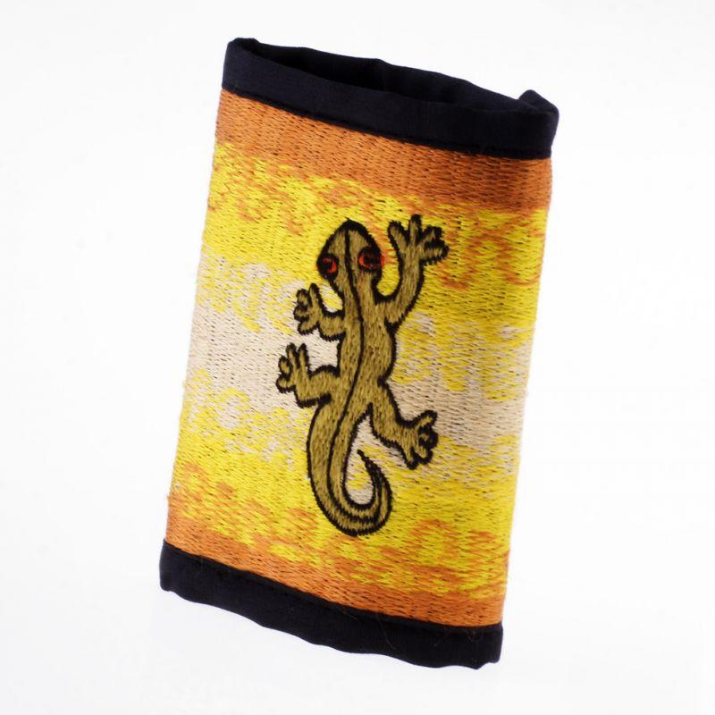 Bestickte Portemonnaie Gecko auf der Sonne