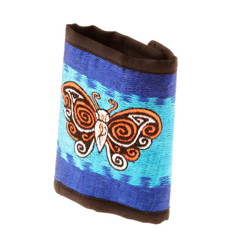 Embroidered wallet Butterfly in the Sky