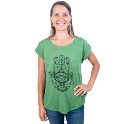 T-shirt Darika Hamsa Green