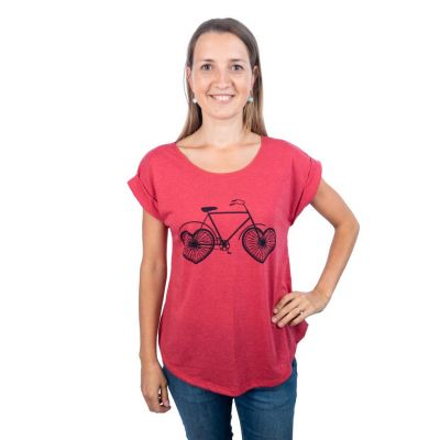 T-Shirt Darika Love Bike Red