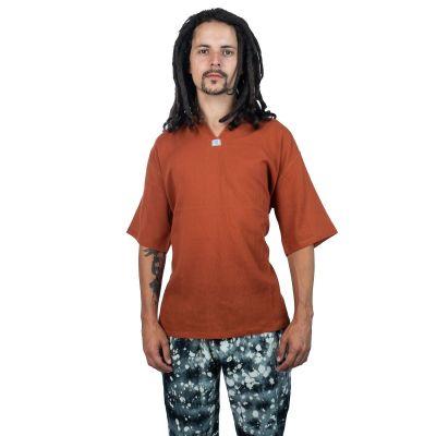 Kurta Lamon Orange - Herrenhemd mit kurzen Ärmeln   M, L, XL, XXL