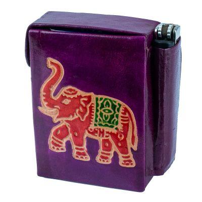 Zigarettenetui Elefant - lila