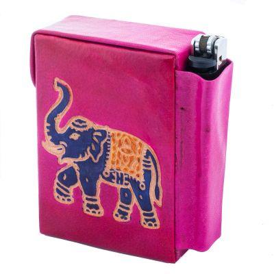 Zigarettenetui Elefant - rosa