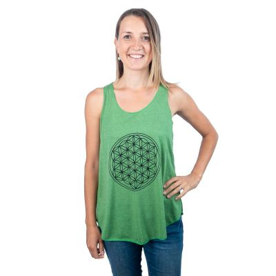 Tank Top Darika Flower of Life Green