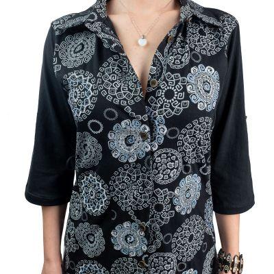 Langes Damen-Hemd Ermelinda Hitam