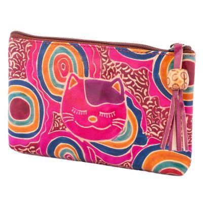Portemonnaie Katze - lila