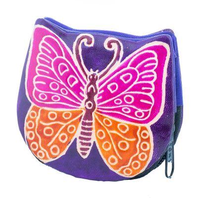 Portemonnaie Schmetterling - lila