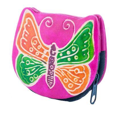 Portemonnaie Schmetterling - rosa