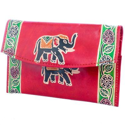 Portemonnaie Elefant 3in1 - weinrot