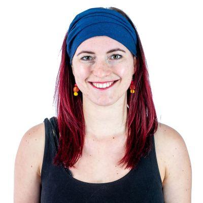 Blaues Haarband