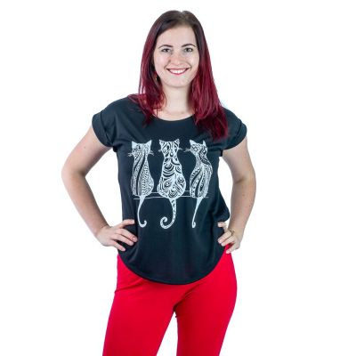 T-Shirt Darika Cats Black