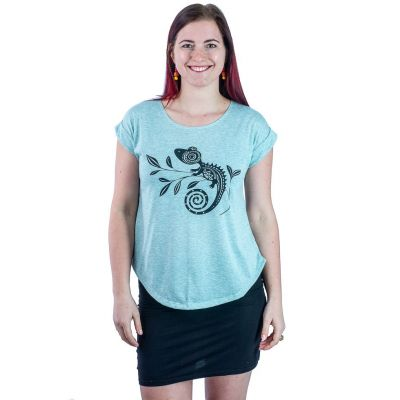 T-Shirt Darika Chameleon Greenish