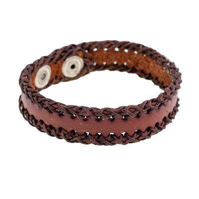 Armband Menjahit Kecil Brown