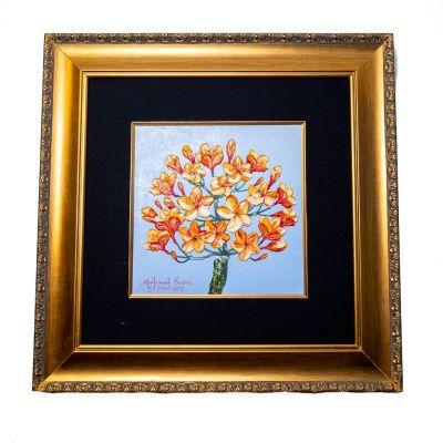 Gemälde Orange Baum