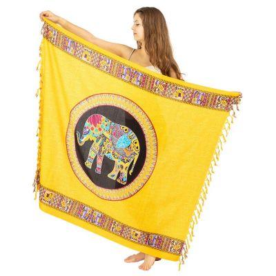 Sarong Elefant gelb