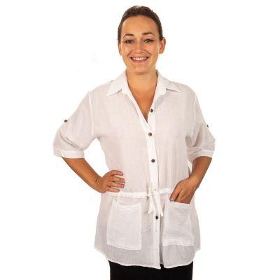 Damenhemd Sumalee White | UNI