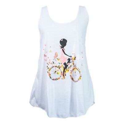 Tank Top Darika Fragrant Bike White