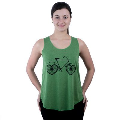 Tank Top Darika Love Bike Green